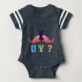 mustache funny friend family shower party laugh baby bodysuit
