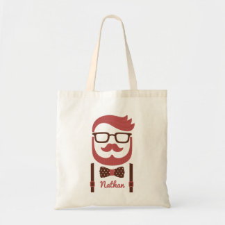 Mustache Gentleman and Bowtie Tote Bag