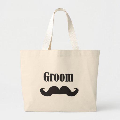 Mustache Groom Canvas Bag