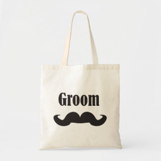 Mustache Groom Budget Tote Bag
