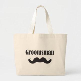 Mustache Groomsman Jumbo Tote Bag
