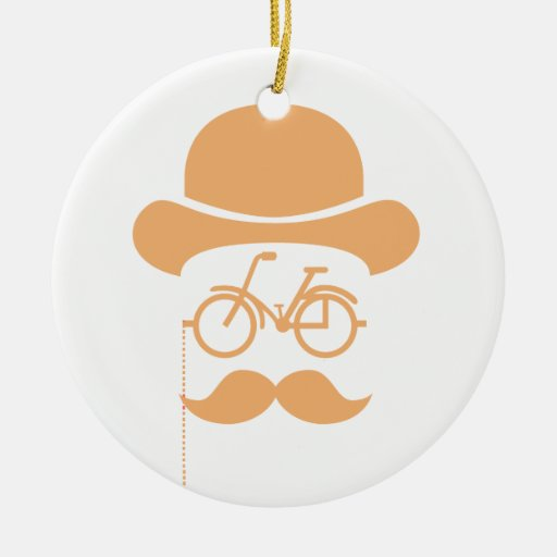 Mustache Hipster Ornaments