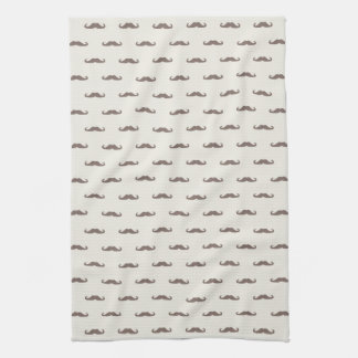 Mustache hipster pattern 3 kitchen towel