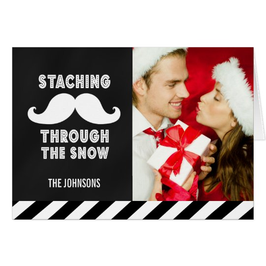 MUSTACHE HOLIDAY GREETING CARD