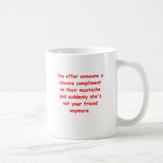 mustache joke coffee mug