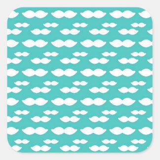 Mustache Light Blue Pattern Stickers