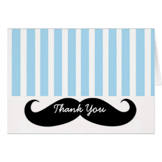 Mustache LIl Man Thank You Card Note Card