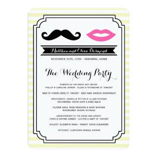 Mustache & Lips Wedding Programs Custom Announcements