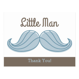 Mustache Little Man Postcard