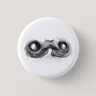 Mustache Man 1 Inch Round Button