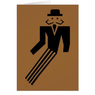 Mustache Man - Art Deco Card