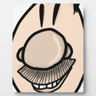 Mustache man plaque