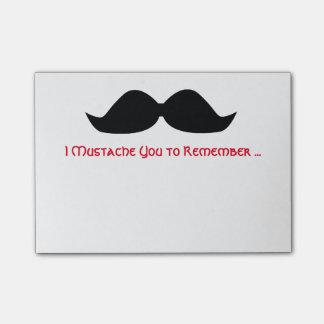 Mustache Memo Sticky Notes