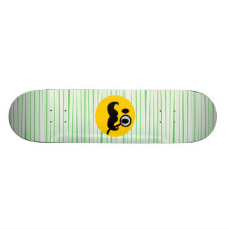 Mustache monocle Smiley Skateboards
