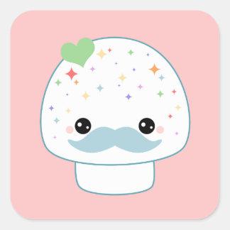 Mustache Mushroom Stickers