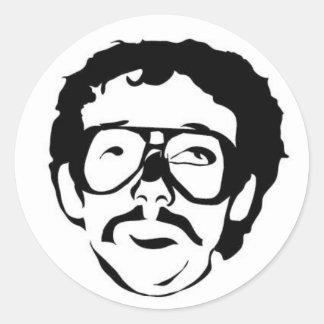 Mustache of the Week Round Sticker