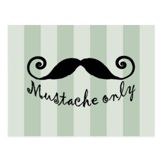 mustache only postcard