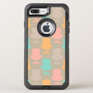 Mustache pattern 2 OtterBox defender iPhone 7 plus case