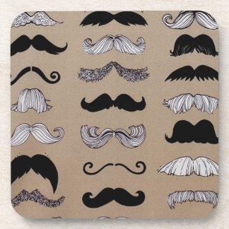 Mustache Pattern Coaster