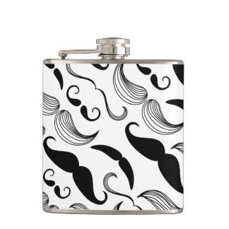 Mustache Pattern Flasks