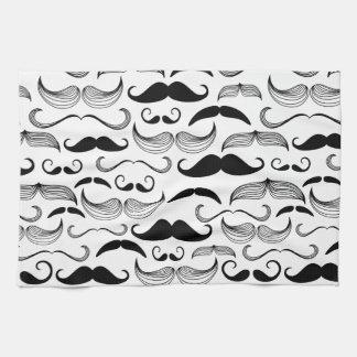 Mustache Pattern Kitchen Towels