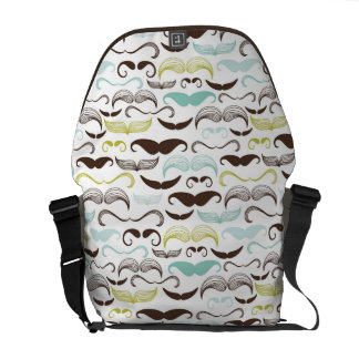 Mustache pattern, retro style 2 commuter bags