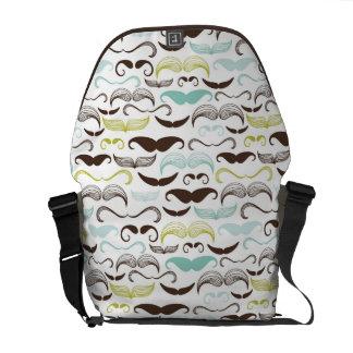 Mustache pattern, retro style 2 commuter bags