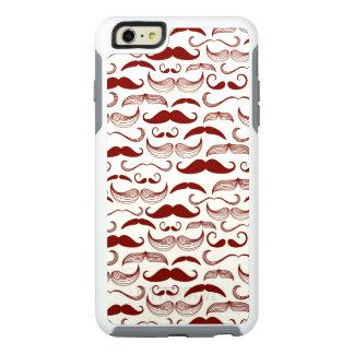 Mustache pattern, retro style 3 OtterBox iPhone 6/6s plus case