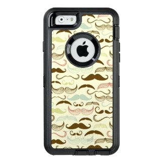 Mustache pattern, retro style 4 OtterBox iPhone 6/6s case