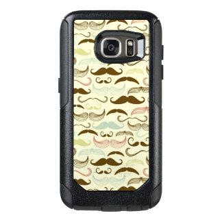 Mustache pattern, retro style 4 OtterBox samsung galaxy s7 case