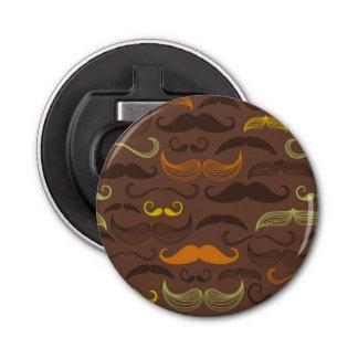 Mustache pattern, retro style 5 bottle opener