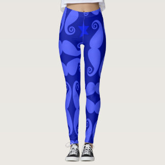 Mustache Pattern Workout Yoga Leggings