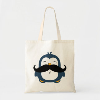 Mustache Penguin Budget Tote Bag