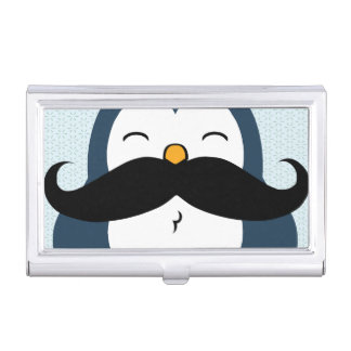 Mustache Penguin Case For Business Cards