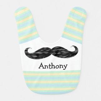 Mustache Personalized Baby Boy Bib