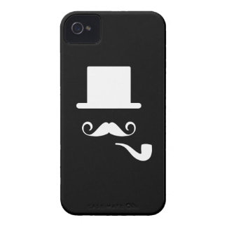 Mustache & Pipe Pictogram iPhone 4 Case