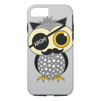 mustache pirate owl iPhone 8/7 case
