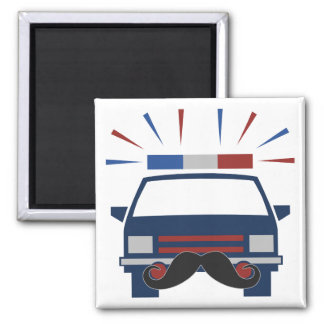Mustache Police magnet