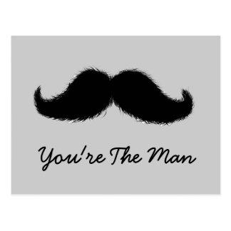 Mustache Postcard