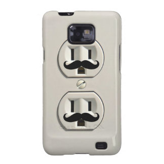 Mustache power outlet samsung galaxy SII cover