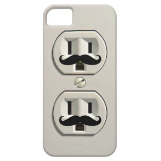 Mustache power outlet iPhone 5 cases