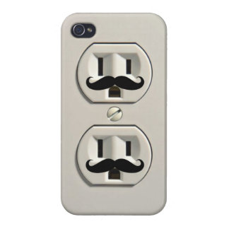 Mustache power outlet covers for iPhone 4