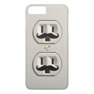 Mustache power outlet iPhone 7 plus case