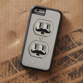 Mustache power outlet tough xtreme iPhone 6 case