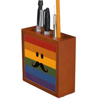 Mustache Pride custom desk organizer