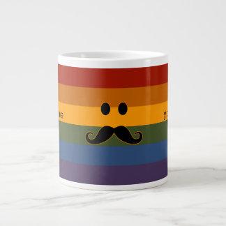 Mustache Pride custom mugs Jumbo Mug