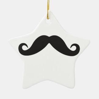 Mustache Qpc Template Ceramic Star Ornament