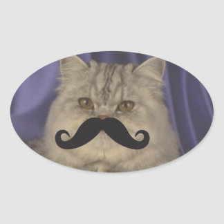 Mustache Qpc Template Oval Sticker