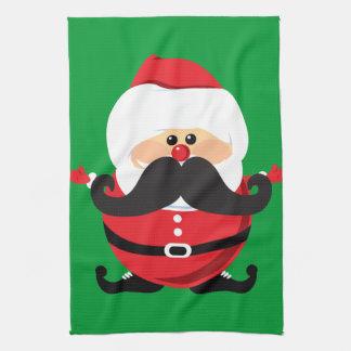 Mustache Santa Claus Kitchen Towel