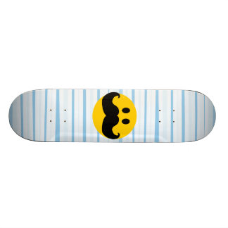 Mustache Smiley Skateboard Deck